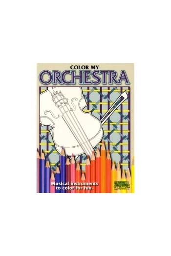 Colour My Orchestra - Instrument Colouring Book