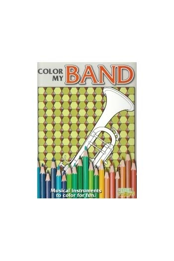 Colour My Band - Instrument Colouring Book