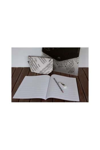 Music Pack: Folder Pencil Case Pencil And Manuscript Book