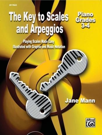 The Key To Scales & Arpeggios Piano Grade 3-4 (Mann)