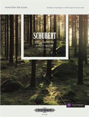 More Than The Score... Schubert: Impromptu In G Flat Solo Piano (Peters)