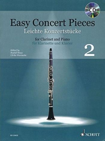Easy Concert Pieces 2: Clarinet & Piano Book & CD (Schott)