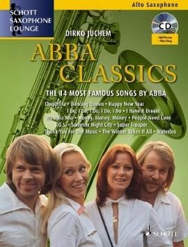Schott Saxophone Lounge: Abba Classics: Alto Sax & Piano Book & Cd (Juchem)
