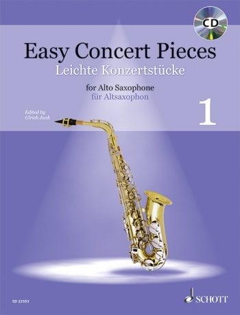 Easy Concert Pieces 1: Alto Sax & Piano: Book & Cd