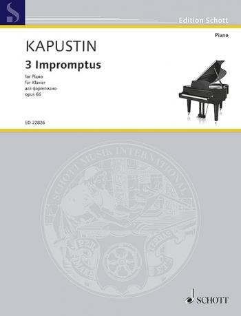 3 Impromptus: Op.66: Piano (Schott)