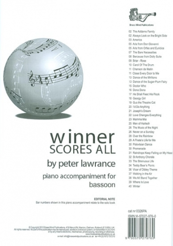 Winner Scores All: Bassoon Piano Accompanimnet (Lawrance