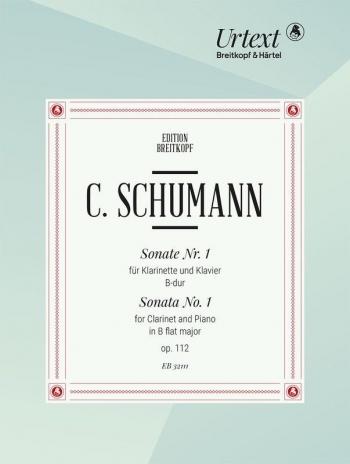 Sonata No.1 Bb Major OP.112 Clarinet & Piano (Breitkopf)