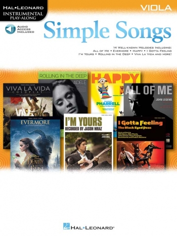 Instrumental Play-along: Simple Songs: Viola Book & Download
