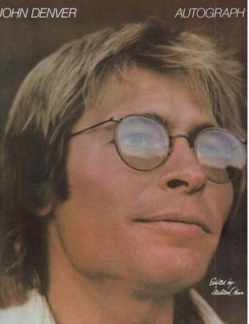 John Denver Autograph: Piano Vocal Guitar