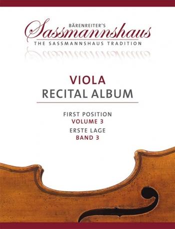 Sassmannshaus: Viola Recital Album Volume 3