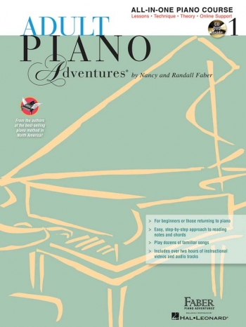Adult Piano Adventures: All In One Lesson Book 1 Book & CDs (Nancy & Randall Faber)