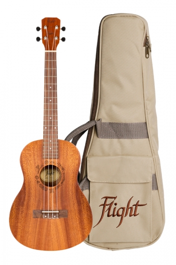 Flight: Nub310 Baritone Ukulele - Sapele  (With Bag)