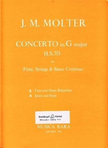 Flute Concerto: G Major: HS315: Flute & Piano (Musica Rara)