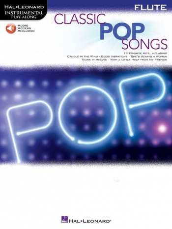 Instrumental Play-along: Classic Pop Songs: Flute Book & Download