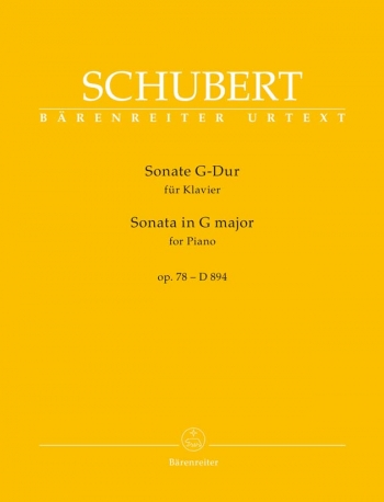 Sonata G Major Op. 78 D 894: Piano Solo (Barenreiter)