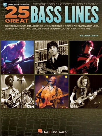 25 Great Bass Lines Book & CD