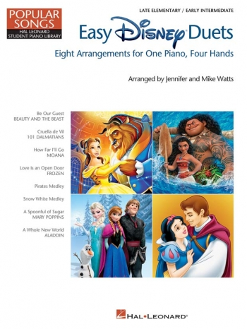 Easy Disney Duets - Popular Songs Series (1 Piano 4 Hands)