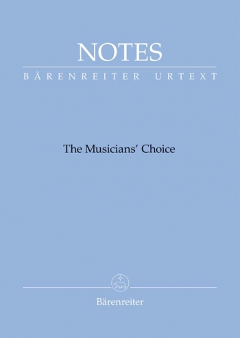 Manuscript: Notes: The Musicians Choice (Small Blue) (Barenreiter)