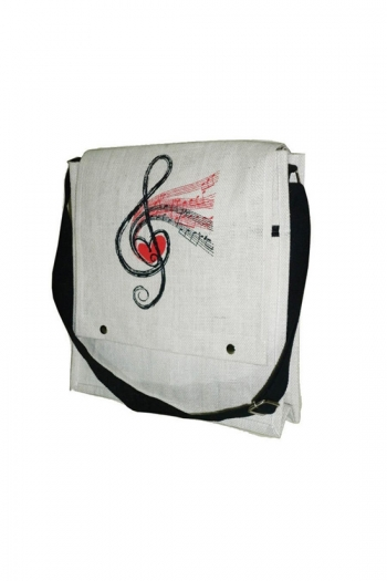 Jute Bag - Treble Clef Design