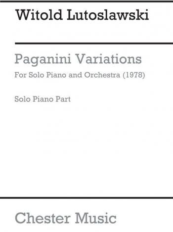 Paganini Variations: Solo Piano & Orchestra: Piano Part (Archive)