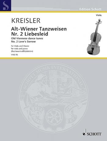 Wiener Tanzweisen No 2 Liebesleid: Old Viennese Dance Tunes: Viola & Piano