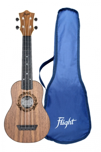 Flight: TUS50 Travel Soprano Ukulele ABS Travel Ukulele – Walnut