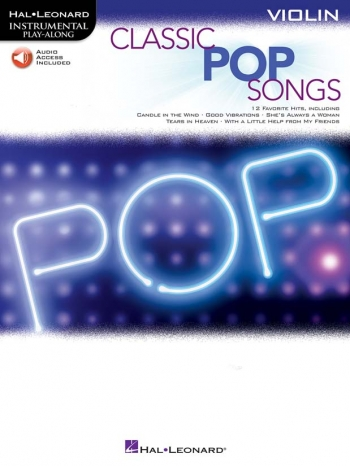 Instrumental Play-along: Classic Pop Songs: Violin Book & Download