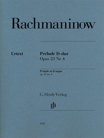 Prelude In D Major Op.23 No.4: Piano Solo (Henle)