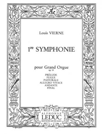 Symphonie Pour Grand Orgue No.1 Op.14: Organ