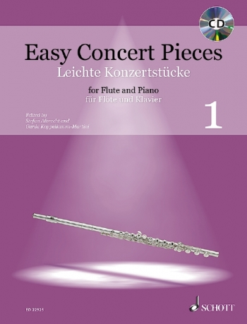 Easy Concert Pieces 1: Flute & Piano Book & CD (Schott)