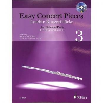 Easy Concert Pieces 3: Flute & Piano Book & CD (Schott)