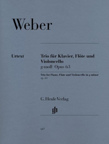 Trio G Minor: Op. 63: Piano Flute & Cello (Henle)