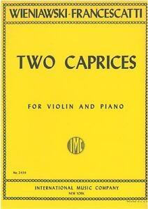 Two Etudes-Caprices: Violin & Piano