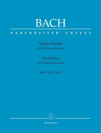 6 Cello Suites Bwv1007-1012: Cello Solo (Barenreiter)