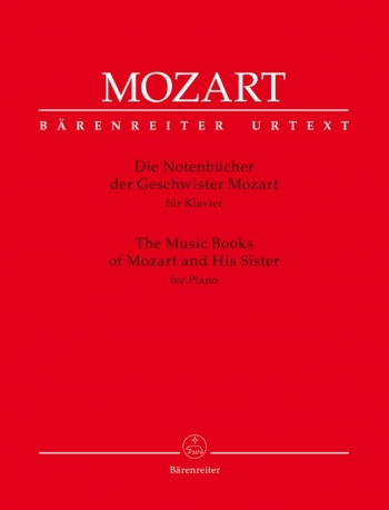The Music Books Of Mozart And His Sister: Piano (Barenreiter)