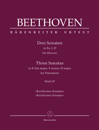Three Piano Sonatas Eb Major F Minor D Major (Urtext): Piano (Barenreiter)