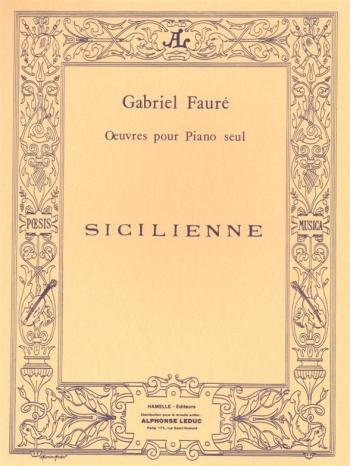 Sicilienne Op78: Piano  (Leduc)