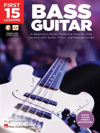 First 15 Lessons: Bass Guitar Book & Audio Download