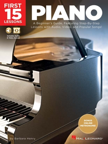 First 15 Lessons - Piano: Book & Audio Download
