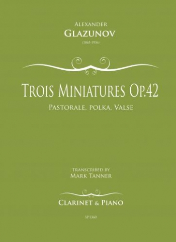 Trois Miniatures Op.42/1 For Clarinet And Piano