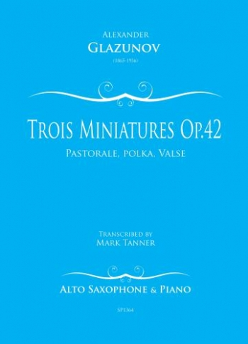 Trois Miniatures Op.42/1 For Alto Saxophone And Piano