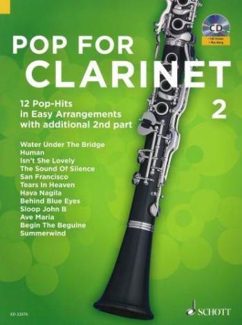 Pop For Clarinet Band 2: Clarinet & CD