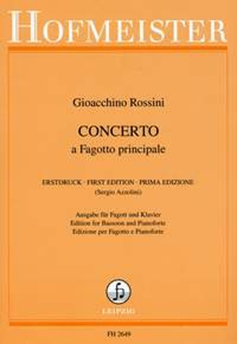 Concerto A Fagotto Principale: Bassoon And Piano