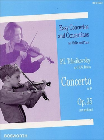 Concerto: D Major: Op35: Violin & Piano (Bosworth)