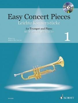 Easy Concert Pieces 1: Trumpet & Piano: Book & Cd (Schott)