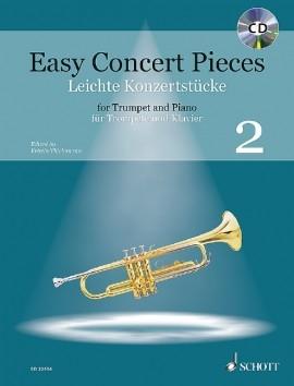 Easy Concert Pieces 2: Trumpet & Piano: Book & Cd (Schott)