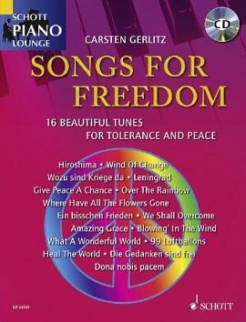 Schott Piano Lounge: Songs For Freedom: Piano: Book & Cd (gerlitz)