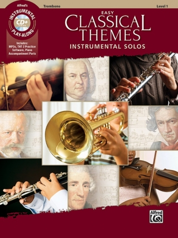 Easy Classical Themes Instrumental Solos: Trombone Bass Clef Book & CD