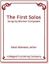 First Solos: Songs By Women Composers: Vol 3: Low Voice