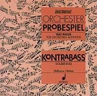 Test Pieces For Orchestral Auditions Double Bass  (Orchestra Probespiel) Cd Only